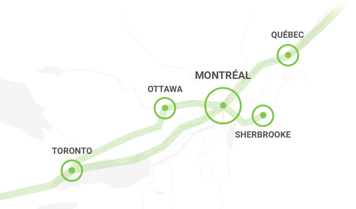 Carte du réseau